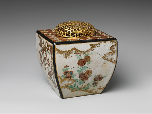 野々村仁清工房 四季花文香炉