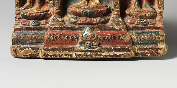 Buddha with Bodhisattvas Padmapani and Vajrapani