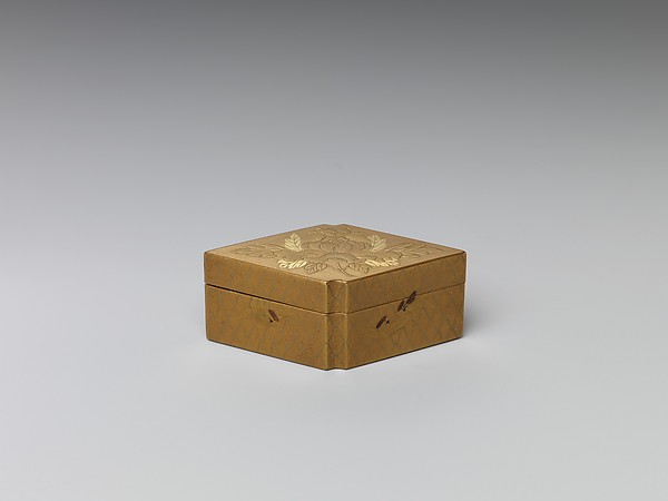 Incense box with Chinese children playing with snowballs