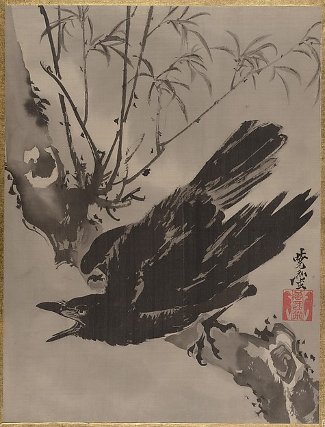 木に鴉図