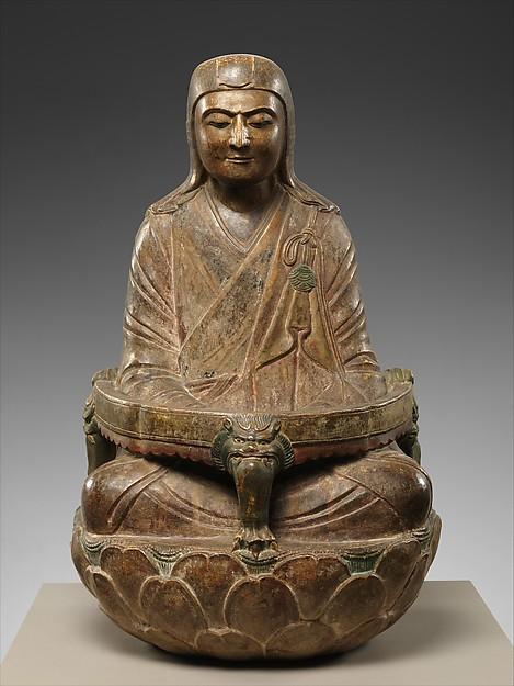 北宋 彩繪石雕僧伽和尚像 (石灰石)<br/>Monk Sengqie