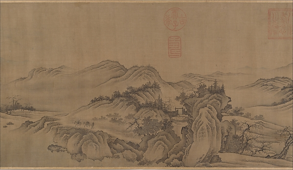 Buddhist Temples amid Autumn Mountains