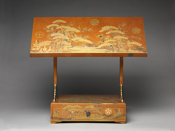 Reading Stand with Design of Pine, Bamboo, and Cherry Blossom