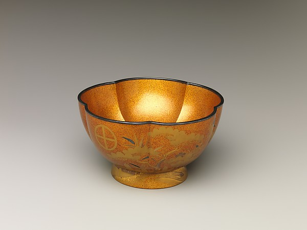 Bowl with with Design of Pine, Bamboo, and Cherry Blossom