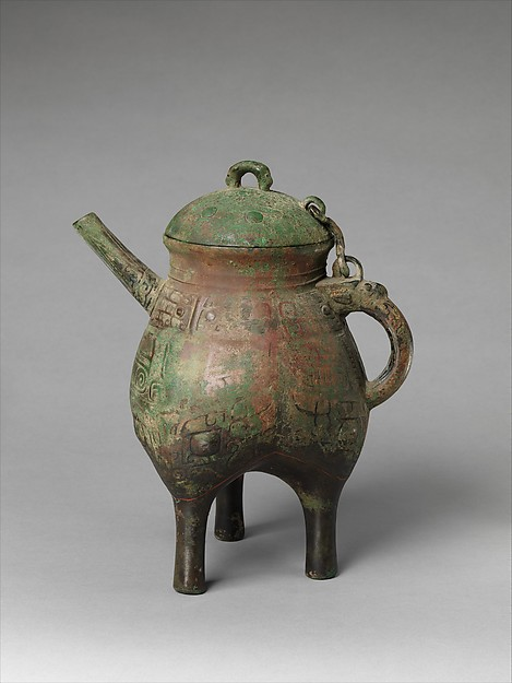 青銅盉<br/>Spouted Ritual Water Vessel (He) with Attached Lid