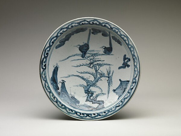 Dish with Birds on a Pine