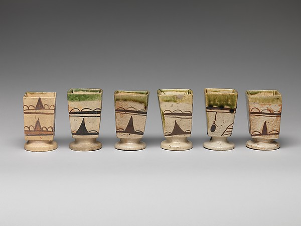 織部四方筒向付 5客