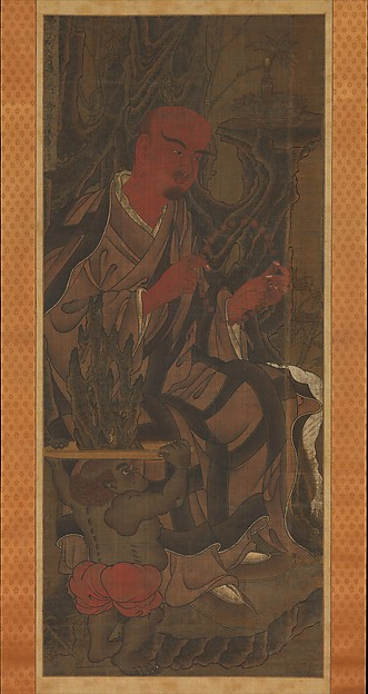 Arhats and Attendants, from a series of sixteen Arhats