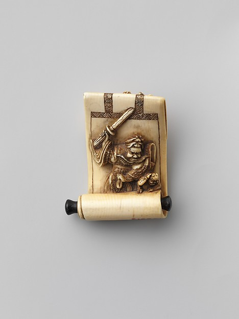 Netsuke in the Shape of a Scroll