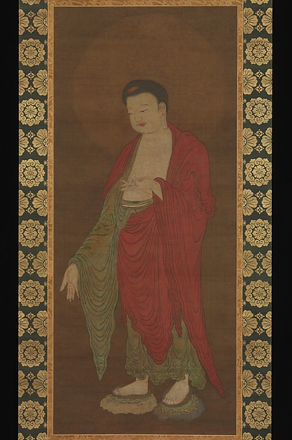 南宋  佚名  阿彌陀如來圖  軸<br/>Buddha Amitabha Descending from His Pure Land