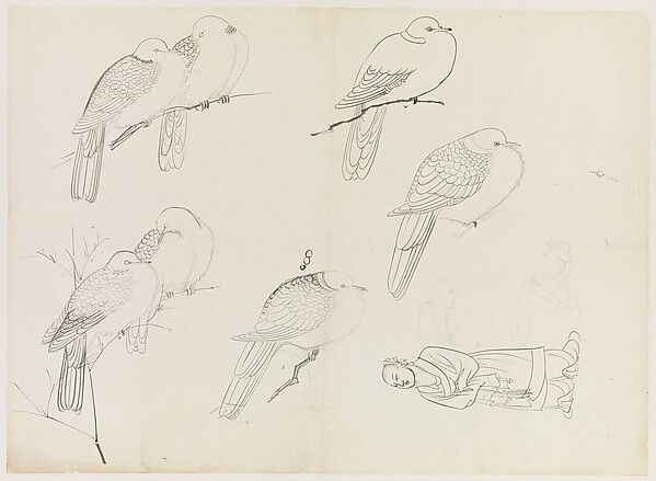 Birds and Human Figure