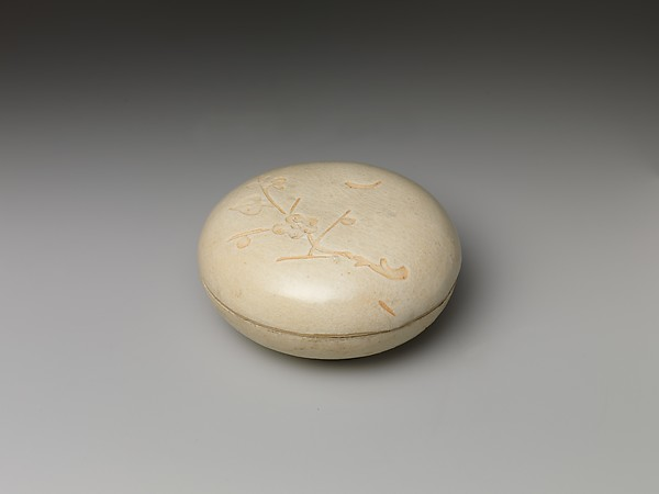 Covered Box with Flowering Plum