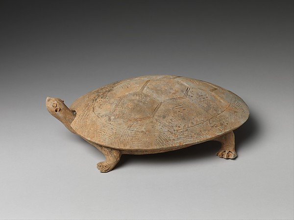"隋至唐初 陶龜硯<br/>""Inkstone"" and Cover in the Shape of a Turtle"
