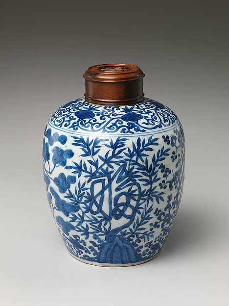 Pot with Pine and Character for Longevity (Shou)