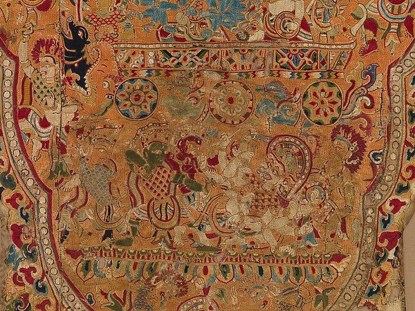 Textile Panel with Scenes from the Ramayana