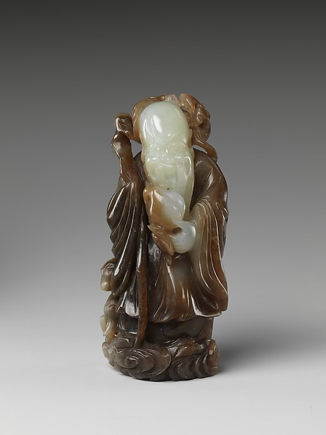 清中期 玉壽星<br/>God of longevity