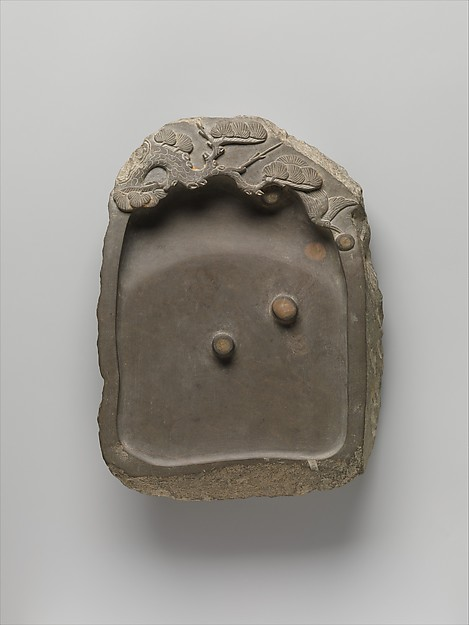 Inkstone with Pine Tree and Bird