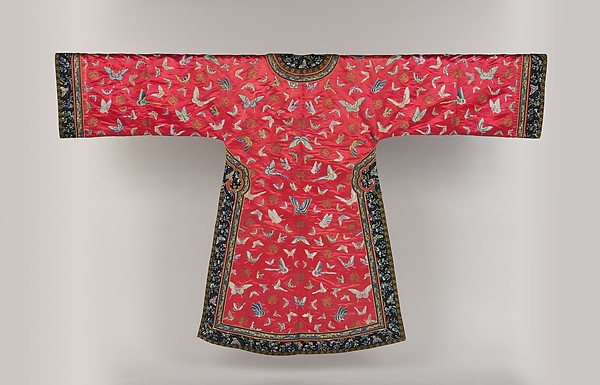 Woman's Informal Robe with Butterflies