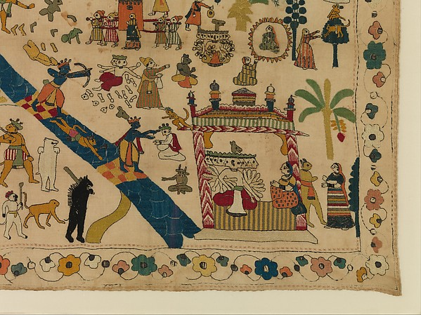 Rumal with Scenes from the Ramayana