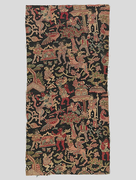 Sarasa with Figures, Birds, and Fantastic Animals