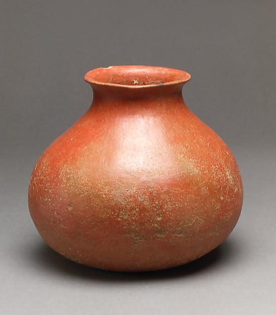 붉은간토기 청동기 시대 후기  <br/>赤色磨硏土器 靑銅器後期<br/>Jar