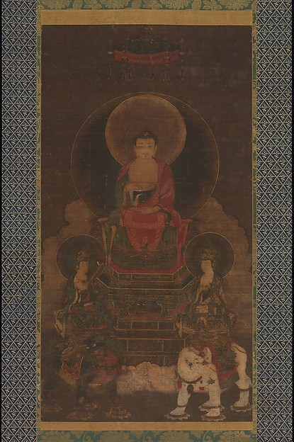 釈迦三尊像<br/>Shaka (Shakyamuni) Triad