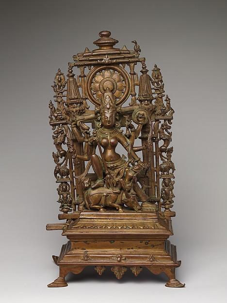 The Goddess Durga Slaying the Buffalo Demon (Durga Mahishasura Mardini)