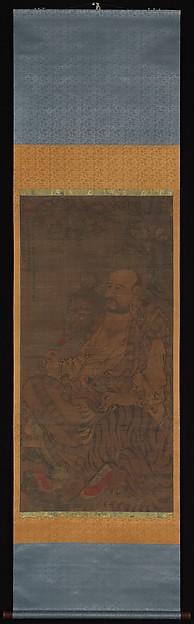 元  佚名  跋陀羅, 第六羅漢圖  軸<br/>Bhadra, The Sixth Luohan