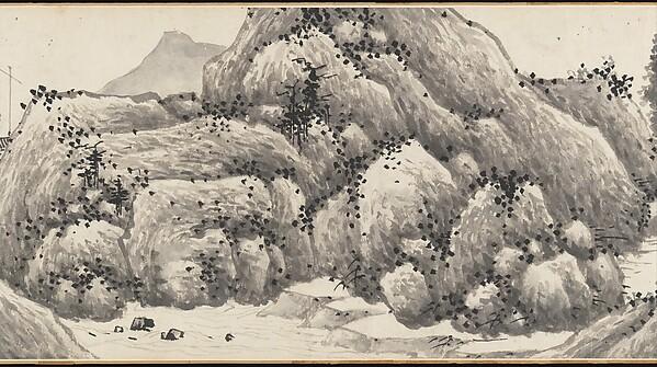 明   沈周 , 文徵明合璧山水圖    卷<br/>Joint Landscape
