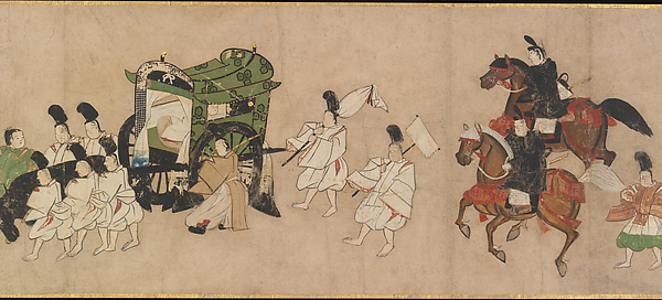 "Scene from ""Channel Buoys"" (Miotsukushi), chapter 14 of the Tale of Genji"