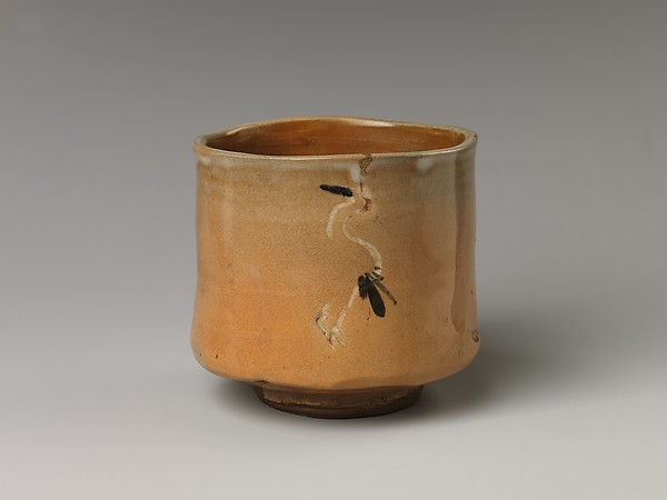 Tea Bowl with Decoration of Standing Cranes