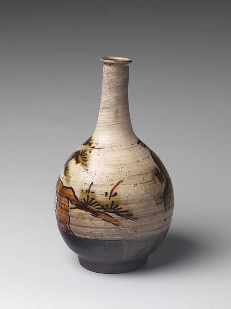 Bottle with Decoration of Pine Tree