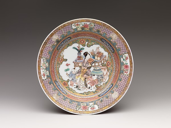 Dish with Scene of Woman and Children