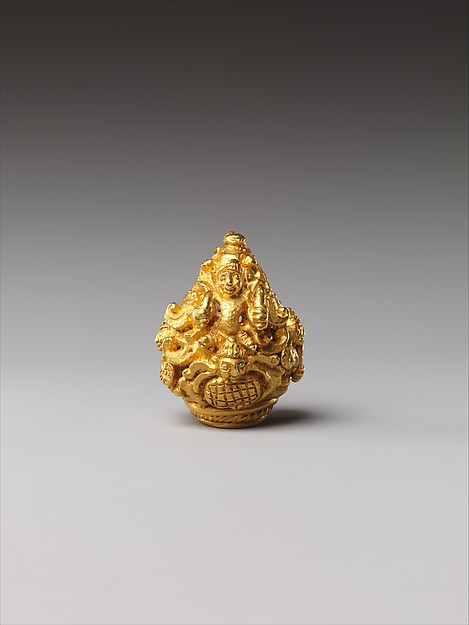 Ear Ornament in the form of Vishnu Riding Garuda