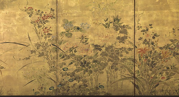 Flowering Plants and Vegetables of the Four Seasons
