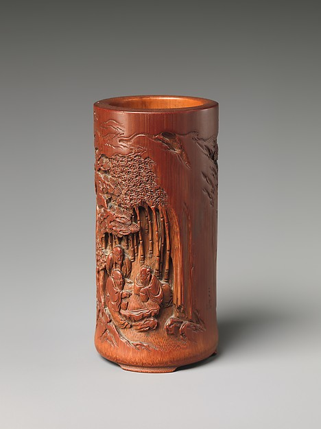 Brush Holder with Seven Sages of the Bamboo Grove