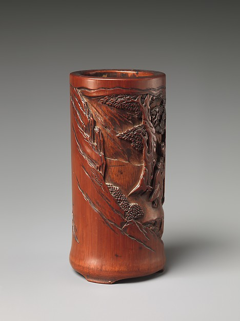 Brush Holder with Fisherman and Traveler