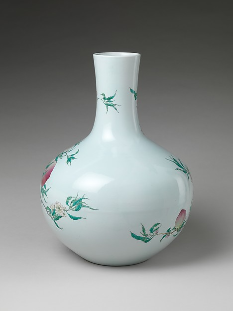 Vase with Peaches and Pomegranates
