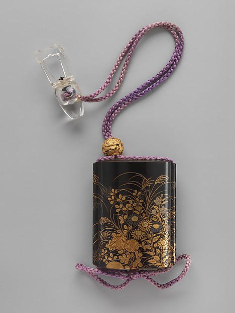 Case (Inrō) with Design of Autumn Flowers