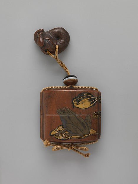 Case (Inrō) with Design of Frogs