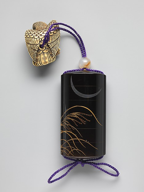 Case (Inrō) with Design of Eulalia Grass and Deer
