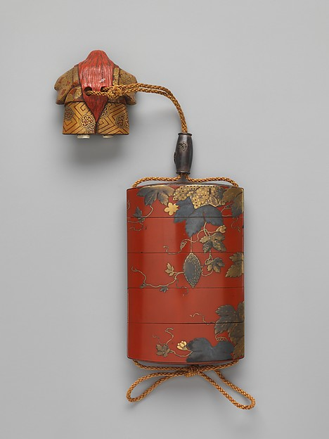 Case (Inrō ) with Design of a Gourd Vine