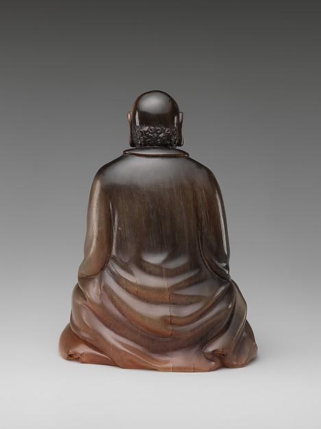 犀角達摩像<br/>Buddhist monk Bodhidharma (Chinese: Damo)