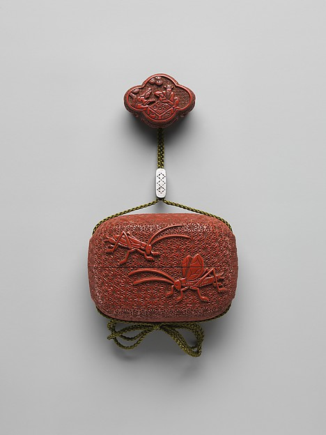 Case (Inrō) with Design of Crickets