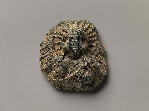 Roundel with a Winged Female Deity