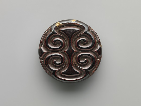 "Box with ""Pommel Scroll"" Design"