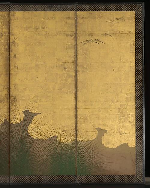 武蔵野図屏風 <br/>The Plains of Musashi