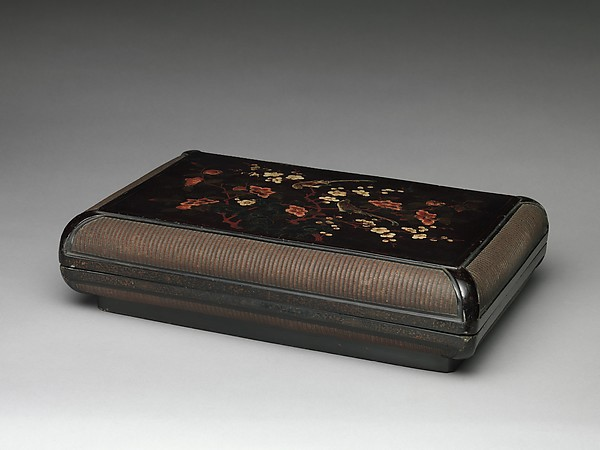 Box with Gardenia, Plum Blossoms, and Finches