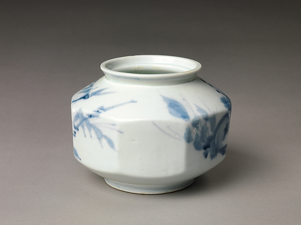 Faceted Jar with Decoration of Plum Blossoms and Bamboo
