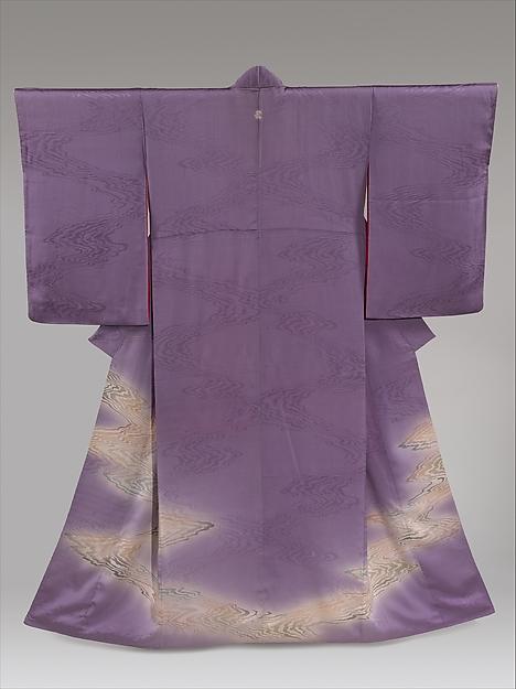 Kimono with Stylized Flowing Water
